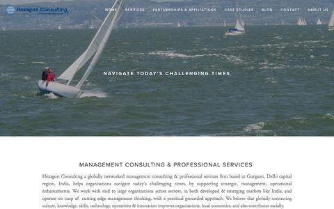 Screenshot of Home Page hexagonconsulting.co - Management Consultant in India Hexagon ConsultingHome - captured Jan. 29, 2016