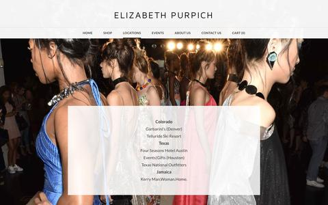 Screenshot of Locations Page juliebethhandbags.com - Locations - ELIZABETH PURPICH - captured June 8, 2017