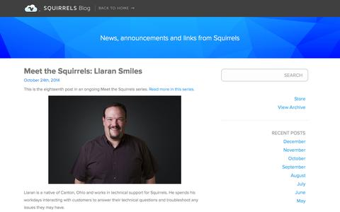 Screenshot of Blog airsquirrels.com - Squirrels - Apps to go nuts for - captured Oct. 26, 2014