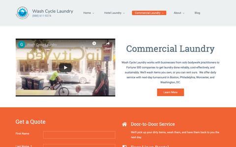 Screenshot of Products Page washcyclelaundry.com - Hotel Laundry Service | Wash Cycle Laundry - captured Nov. 16, 2018