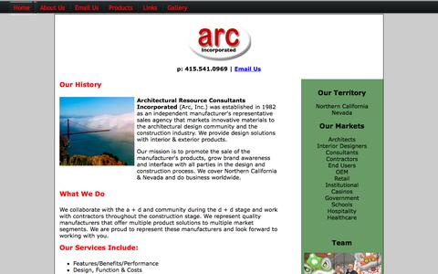 Screenshot of About Page arcagency.com - About Arc Agency, Inc | Northern California and Nevada - captured Sept. 30, 2014