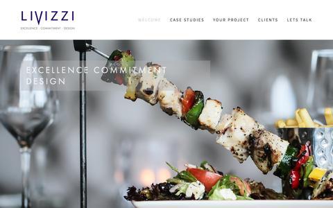 Screenshot of Home Page livizzi.com - Excellence - Commitment - Design - captured Dec. 6, 2015