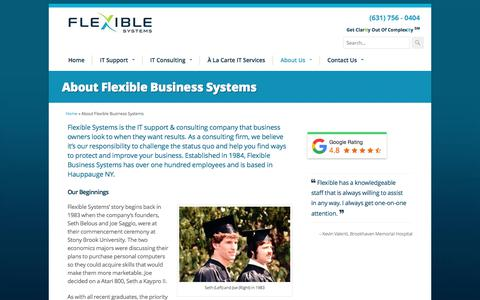 Screenshot of About Page flexiblesystems.com - About Flexible Business Systems | IT Support & Consulting Company - captured June 21, 2018