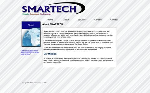 Screenshot of About Page smartech-csi.com - About SMARTECH and Associates - captured Nov. 16, 2016