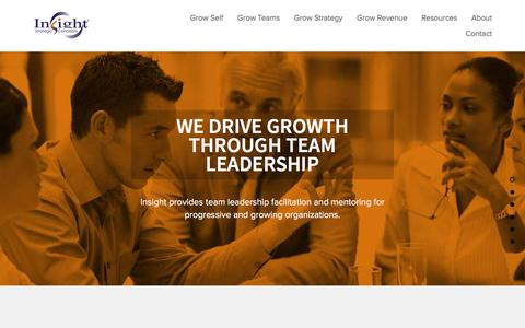 Screenshot of Home Page insightsc.com - Insight Strategic Concepts® | Business Strategy, Marketing Communications,  Sales Growth and Leadership Inspiration - captured Feb. 11, 2016