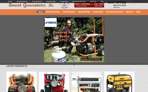 Screenshot of Home Page nysmartgenerators.com - Smart Generators - The Tri-Fuel Generator Specialists - captured Feb. 15, 2016