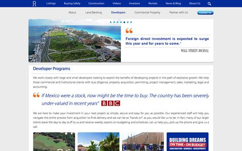 Screenshot of Developers Page investmentpropertiesmexico.com - Real Estate Development in Mexico | Investment Properties Mexico - captured Jan. 9, 2016