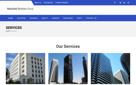 Screenshot of Services Page abg.ca - Services – ABG - captured Oct. 9, 2017