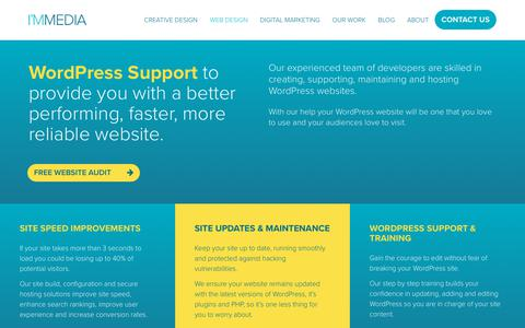 Screenshot of Support Page immedia-creative.com - WordPress Support and Training | Immedia Creative - captured Oct. 11, 2018
