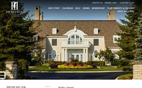 Screenshot of Team Page clubcorp.com - Our Team | Heritage Golf Club | Hillard OH - captured Sept. 28, 2018