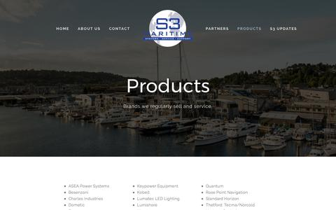 Screenshot of Products Page s3maritime.com - S3 Maritime — Products - captured Sept. 29, 2017