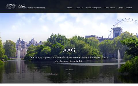 Screenshot of About Page aag.co.uk - About Us | Alexander Associates Group | AAG | London - captured Oct. 4, 2014