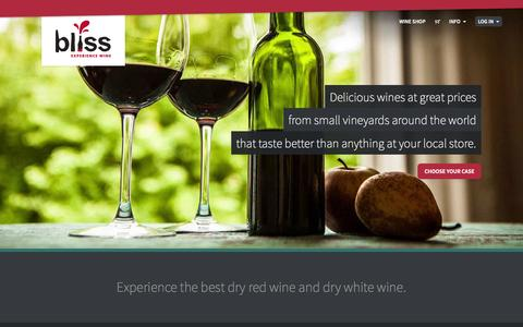 Screenshot of Home Page About Page Privacy Page Contact Page FAQ Page Terms Page blisswineimports.com - Bliss Wine Imports      | Best dry red wine & dry white wine - captured Sept. 30, 2014