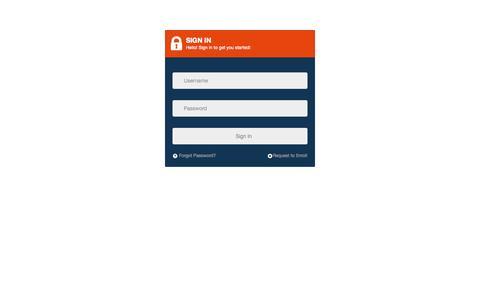 Screenshot of Login Page aurarays.com - Administrator Login - captured Oct. 27, 2014
