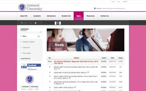 Screenshot of Press Page rtuniv.org - News & Event - captured Oct. 28, 2018