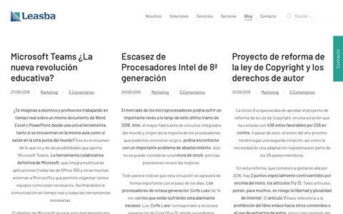Screenshot of Blog leasba.com - Blog | Leasba Consulting - captured Sept. 27, 2018