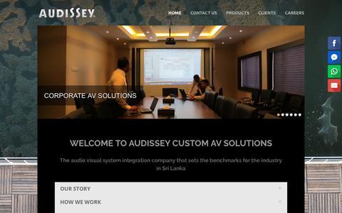 Screenshot of Home Page audissey.lk - Audissey Sri Lanka - Custom AV Solutions - captured Oct. 4, 2018