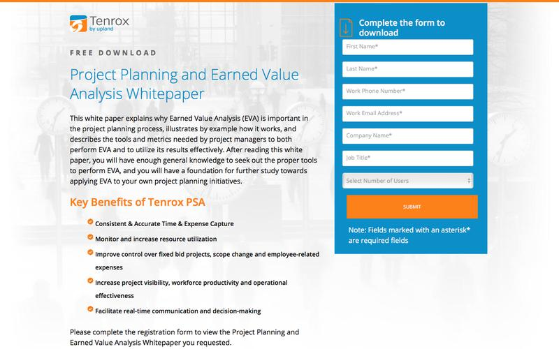 Project Planning and Earned Value Analysis Whitepaper