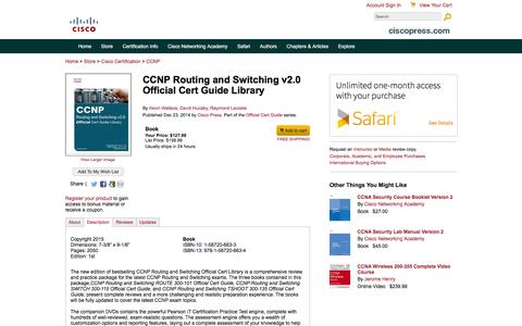 Screenshot of Testimonials Page ciscopress.com - CCNP Routing and Switching v2.0 Official Cert Guide Library - captured Dec. 9, 2015