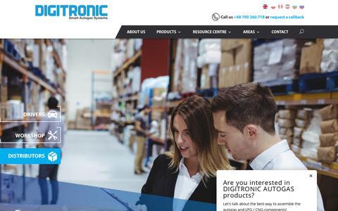 Screenshot of Home Page digitronicgas.com - Digitronic - Digitronic Autogas - captured Oct. 12, 2017