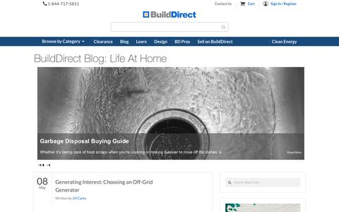 Screenshot of Blog builddirect.com - Flooring, Building, Design and Housing News | BuildDirect - captured May 9, 2017