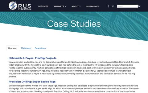 Screenshot of Case Studies Page rusindust.com - Case Studies - RUS Industrial - captured Dec. 1, 2016