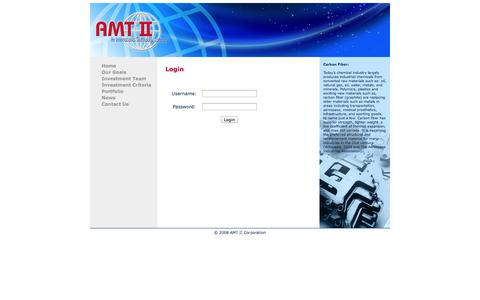 Screenshot of Login Page amt-nyc.com - AMT II Corporation - An International Technology Company - captured Oct. 4, 2014
