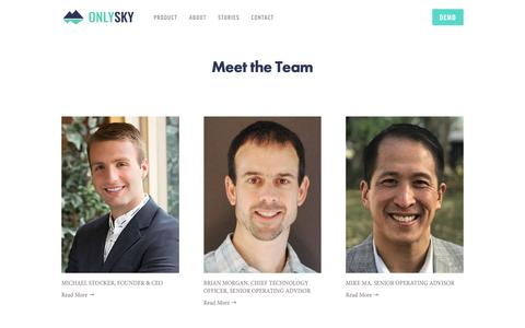 Screenshot of Team Page theonlysky.com - Team — Only Sky - captured Nov. 19, 2018