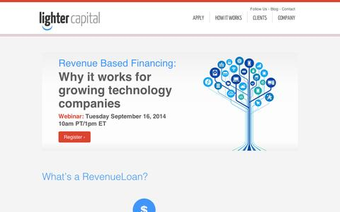 Screenshot of About Page lightercapital.com - Lighter Capital | About the Company - captured Sept. 12, 2014