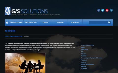 Screenshot of Services Page gssolutions.com - Services - GS Solutions - captured Nov. 1, 2014