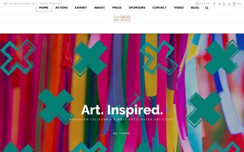Screenshot of Home Page art-sandiego.com - Art San Diego 2018 - captured Oct. 10, 2017
