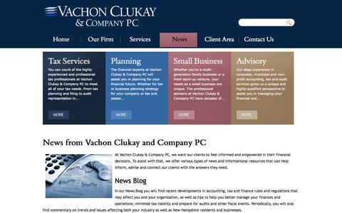 Screenshot of Press Page vachonclukay.com - News from Vachon Clukay and Company PC | Vachon Clukay & Company PC - captured Oct. 9, 2014