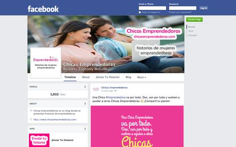 Screenshot of Facebook Page facebook.com - Chicas Emprendedoras | Facebook - captured Oct. 22, 2014