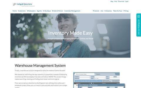 Screenshot of Team Page indigo8-solutions.com - Inventory management software for fashion & apparel / The best warehouse management system for fashion - captured Oct. 15, 2017