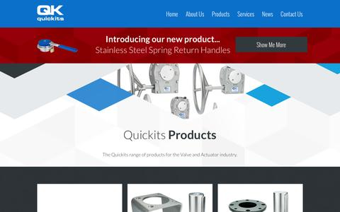 Screenshot of Products Page quickits-online.co.uk - Or range of products for the Valve and Actuator industry - captured Feb. 2, 2016