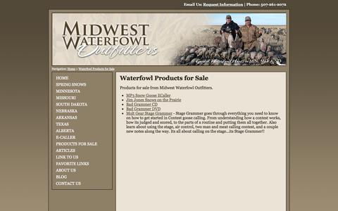 Screenshot of Products Page midwestwaterfowloutfitters.com - Waterfowl CDs, DVDs and Goose Hunting Products for Sale - captured Oct. 7, 2014