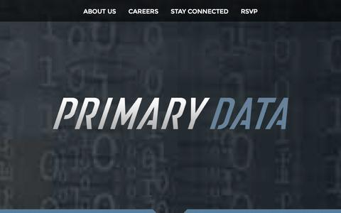Screenshot of Home Page tonian.com - Primary Data - captured Oct. 7, 2014