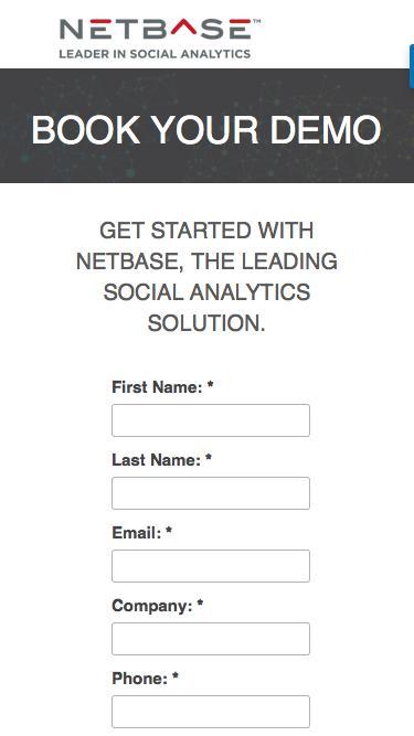 Book a NetBase Demo