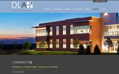 Screenshot of Contact Page dlaplus.com - Contact   DLA+ Architecture & Interior Design - captured Jan. 23, 2016