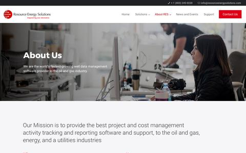 Screenshot of About Page resourceenergysolutions.com - About Us – Resource Energy Solutions - captured Oct. 22, 2017