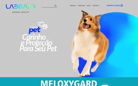 Screenshot of Home Page labgard.com.br - Home | Labgard - captured July 15, 2018