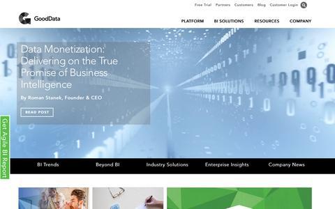 Screenshot of Blog gooddata.com - Business Intelligence Blog | Analytics Blog | BI Blog | GoodData Blog - captured Nov. 18, 2015