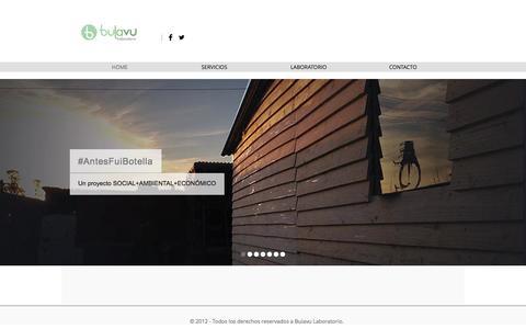 Screenshot of Home Page bulavu.com - Bulavu Laboratorio - captured Oct. 5, 2014