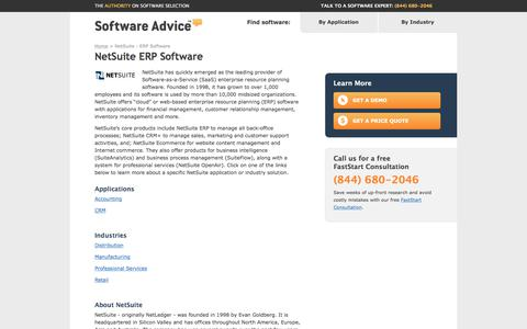 NetSuite ERP Software | Reviews, Free Demo & Pricing