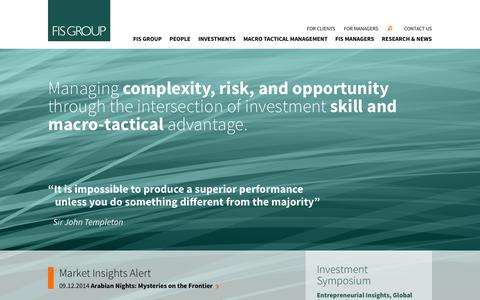 Screenshot of Team Page fisgroup.com - FIS Group - Fiduciary Investment Solutions Homepage - captured Sept. 30, 2014