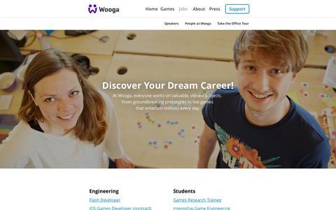 Screenshot of Jobs Page wooga.com - Jobs - captured Nov. 20, 2015