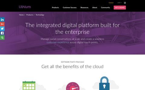Social Media Network Integration Tools & Social Technology | Lithium