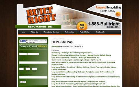 Screenshot of Site Map Page builtrightny.com - Sitemap - Long Island Remodeling Contractor   Built Right Renovations, Inc. - captured Feb. 8, 2016
