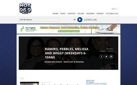 Ramiro, Pebbles, Melissa & Wiggy - HOT 96.9 Boston