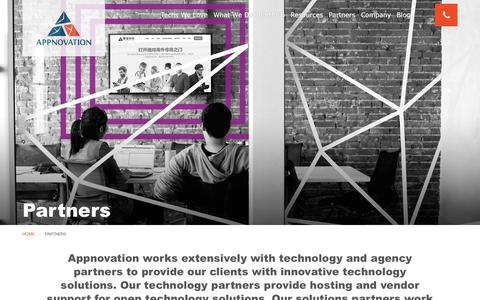 Screenshot of About Page appnovation.com - Partners | Appnovation - captured March 11, 2017